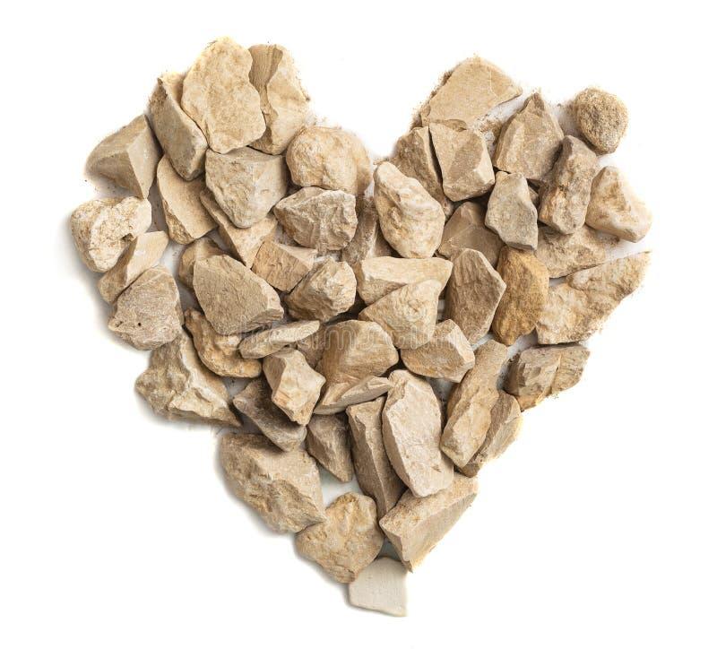 Serce zrobione z kamieni, Rock Heart obraz royalty free