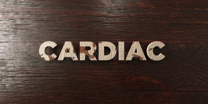 Sercowy - grungy drewniany nagłówek na klonie - 3D odpłacający się królewskość bezpłatny akcyjny wizerunek ilustracji