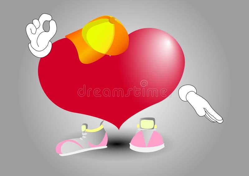 Sercowy ok Gdy serce wszystko jest prawy ilustracji