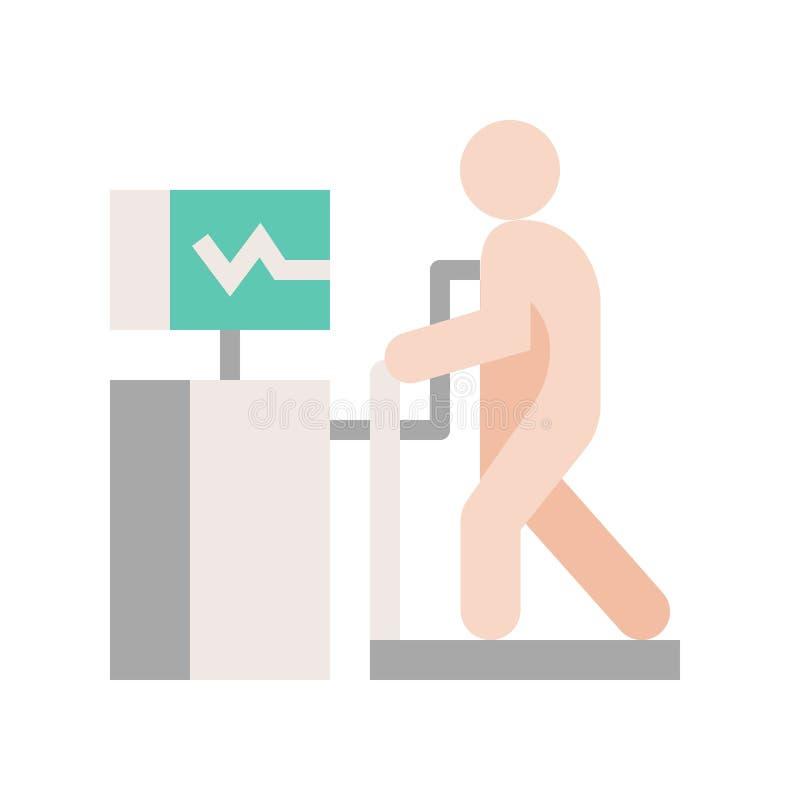 Sercowy stresu test, medyczny, i szpital odnosić sie płaskiego projekt ic royalty ilustracja