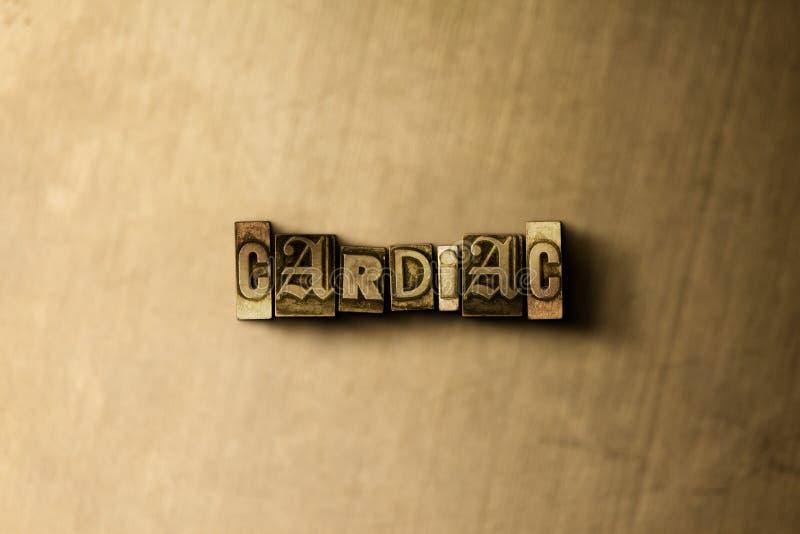 SERCOWY - zakończenie grungy rocznik typeset słowo na metalu tle ilustracji