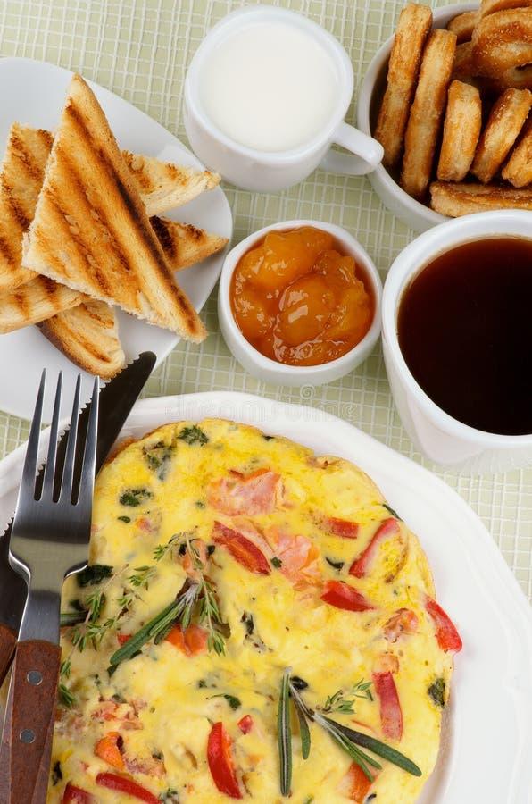 Serdecznie śniadanie zdjęcia stock