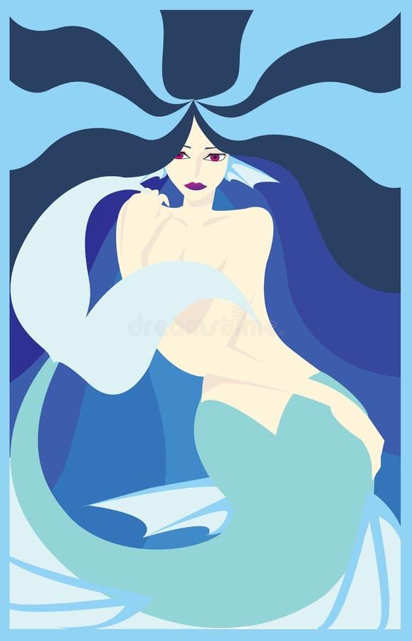 A sereia ilustração royalty free