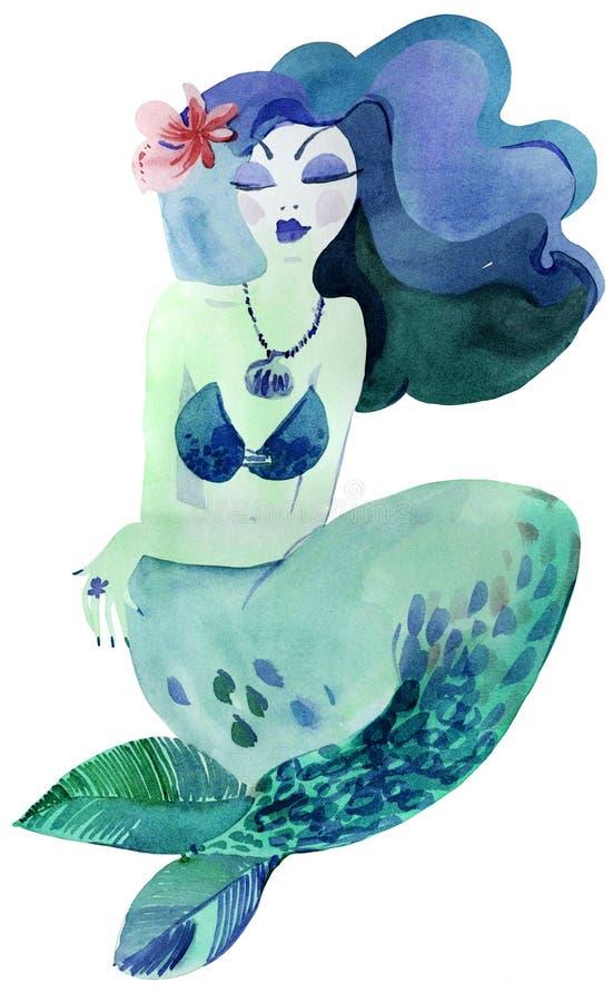 Sereia bonita. ilustração royalty free