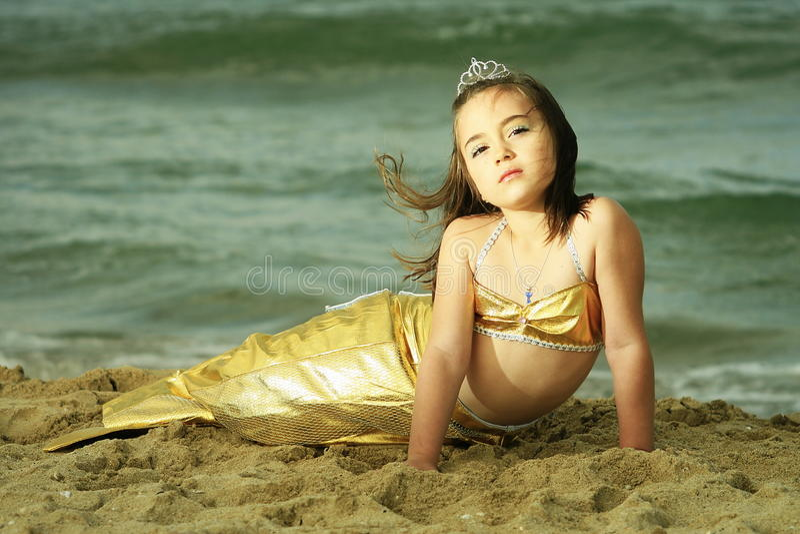 Sereia da menina fotografia de stock