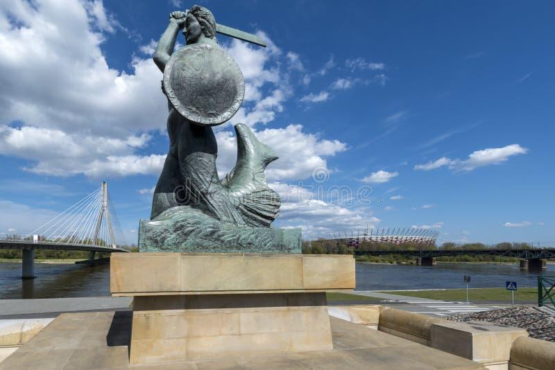 A sereia de Varsóvia chamou Syrenka fotografia de stock royalty free
