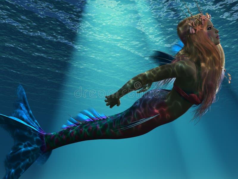 Sereia do mar ilustração stock