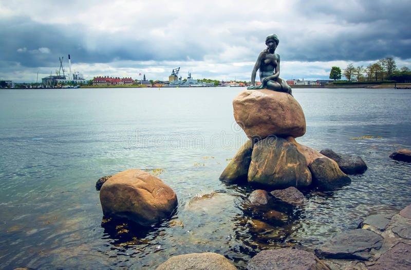 Sereia pequena, Copenhaga, Dinamarca fotografia de stock royalty free