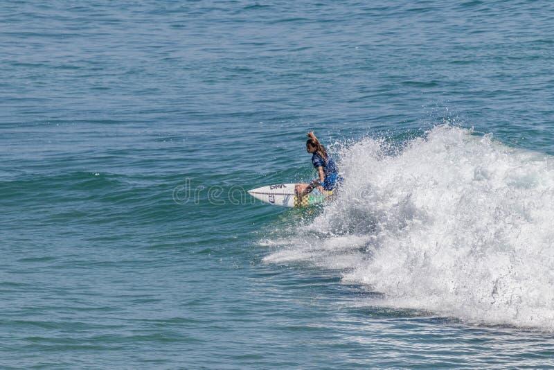 Serena Nava surfing w samochodów dostawczych us open surfing 2019 obraz royalty free