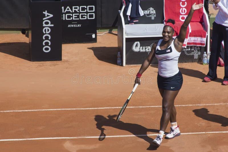 Serena Williams Brindisi nakarmoina filiżanka fotografia stock