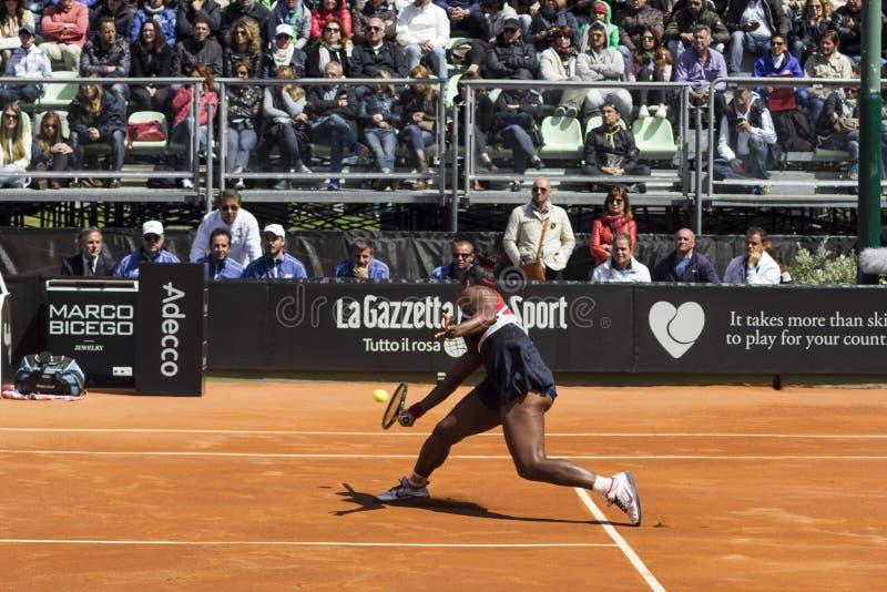 Serena Williams Brindisi nakarmoina filiżanka 2015 fotografia royalty free