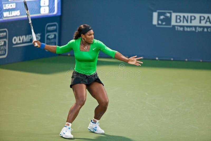 Serena Williams, Etats-Unis, pièces dans le jeu de demi-finale photographie stock libre de droits