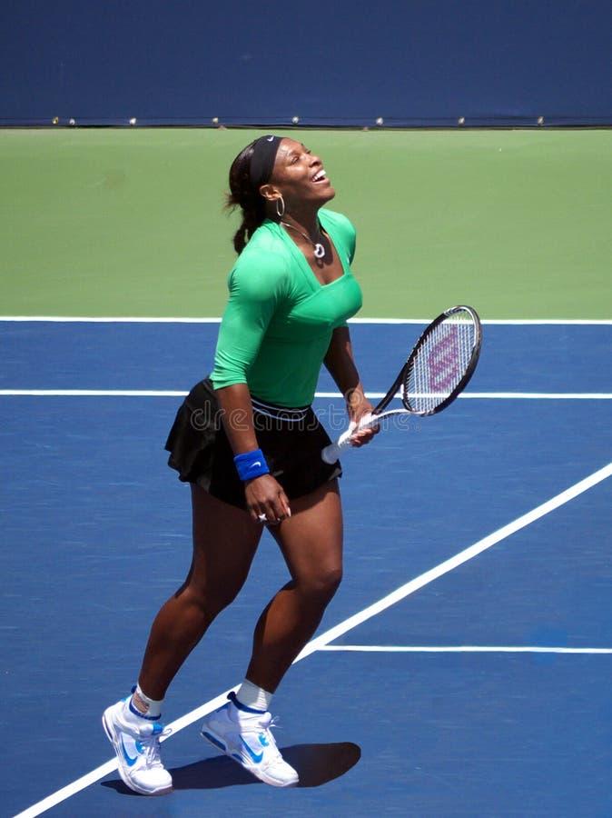 Serena Williams gagne le côté de l'ouest images stock