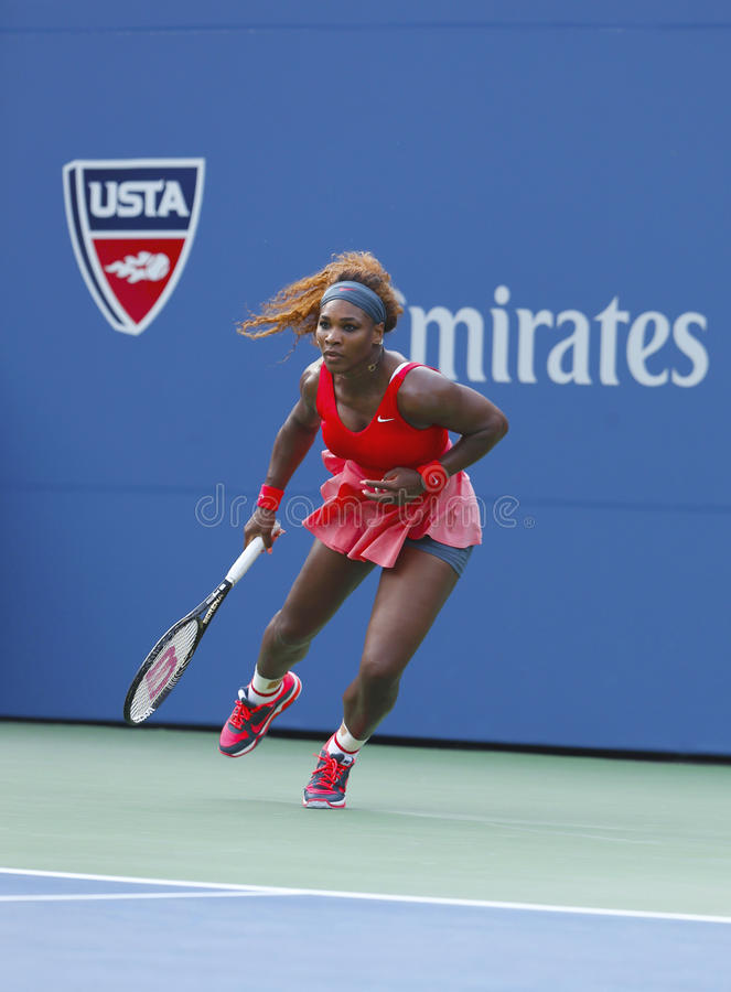 Serena Williams på US Open 2013 arkivbild