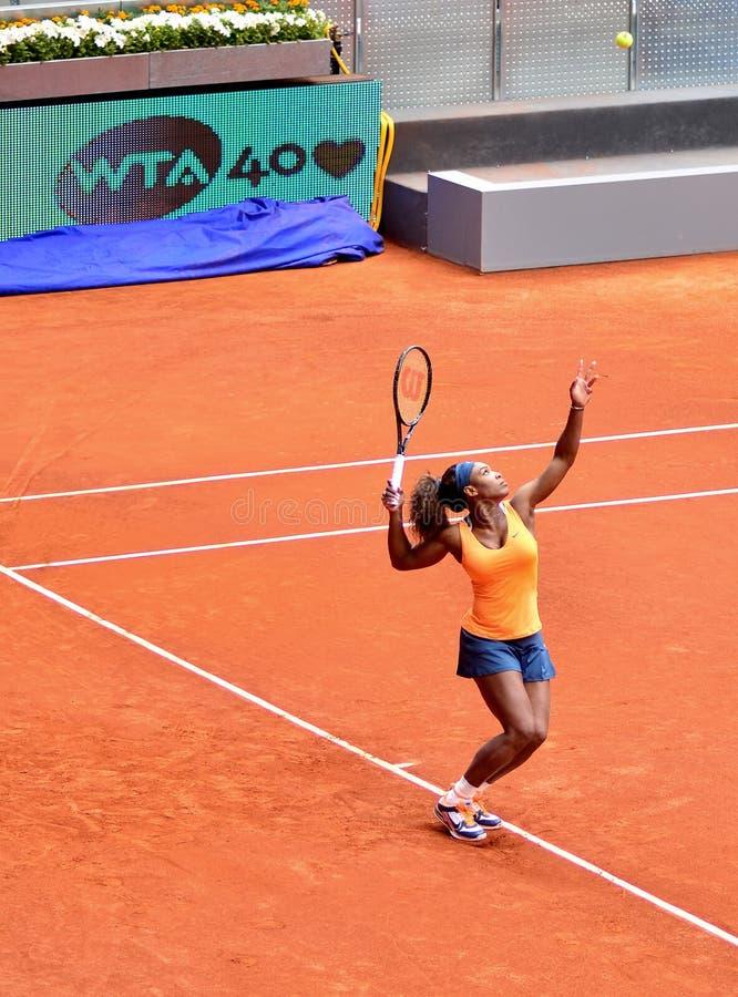 Serena Williams przy WTA Mutua Otwarty Madryt obrazy stock