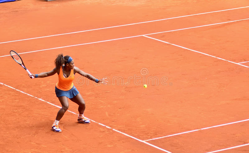 Serena Williams przy WTA Mutua Otwarty Madryt obraz stock
