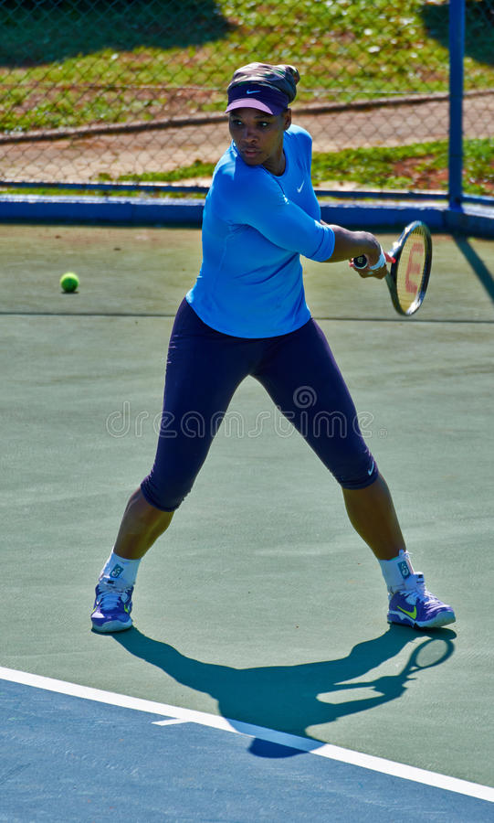 Serena Williams In Umag, Croácia fotografia de stock royalty free