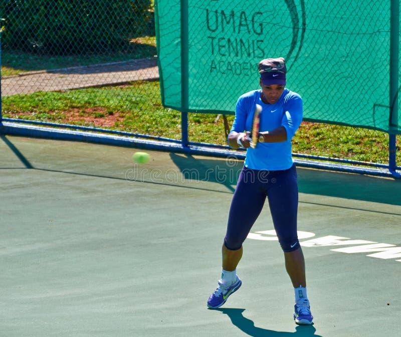 Serena Williams In Umag, Croácia imagens de stock royalty free