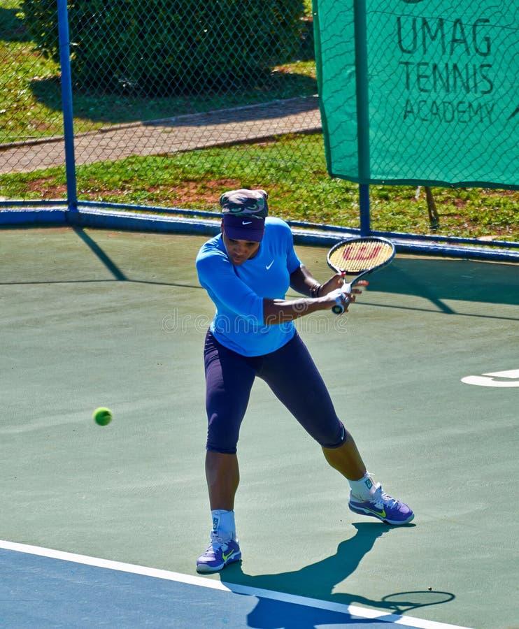 Serena Williams In Umag, Croácia fotos de stock royalty free