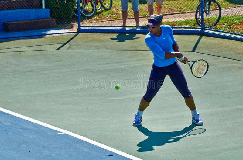 Serena Williams In Umag, Croácia fotografia de stock