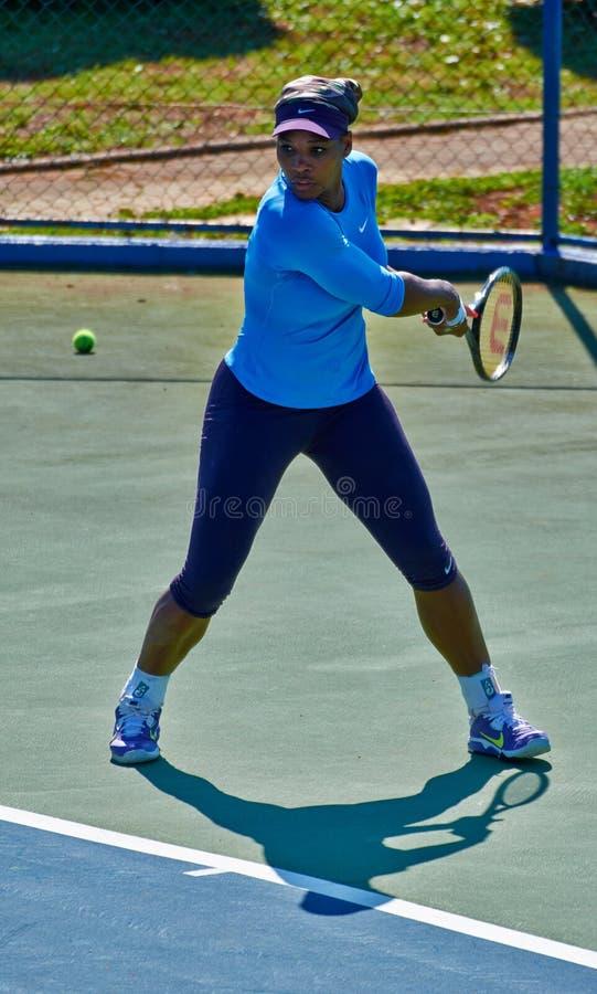 Serena Williams In Umag, Croatia. Serena Williams practicing in Umag, Croatia royalty free stock photography