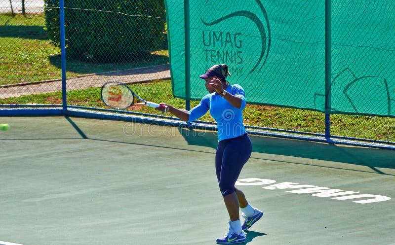 Serena Williams In Umag, Kroatië stock foto's