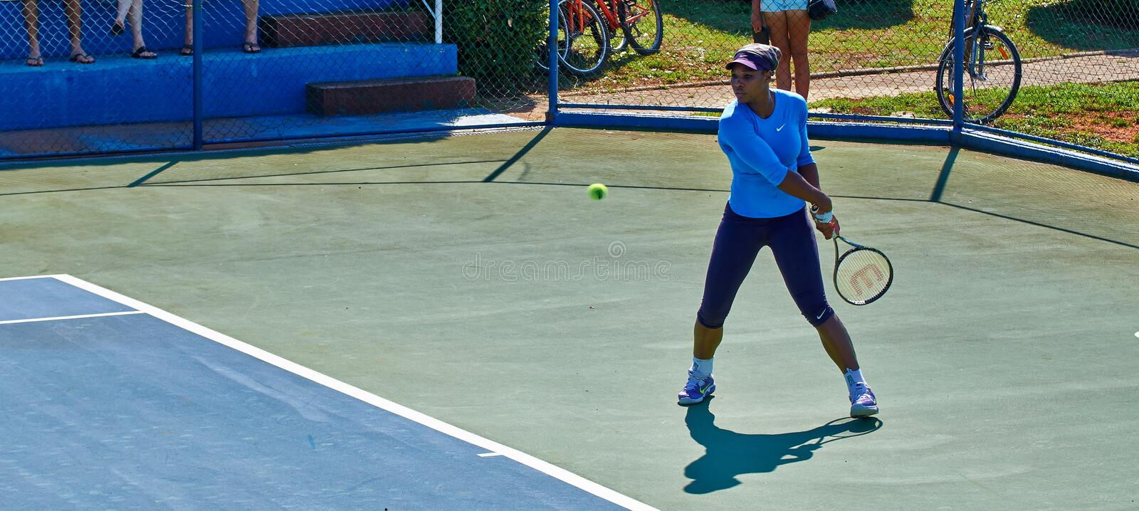 Serena Williams In Umag, Kroatien lizenzfreies stockbild