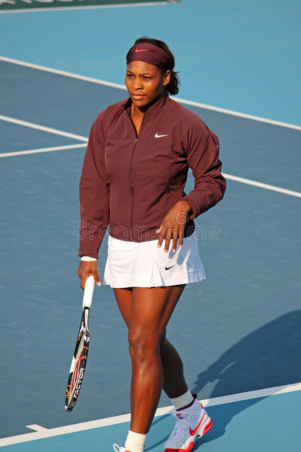 Serena Williams (USA), professional tennis player. Serena Williams (USA) at the China Open Tennis Tournament 2009 Photo taken at the National Tennis Center in stock photo