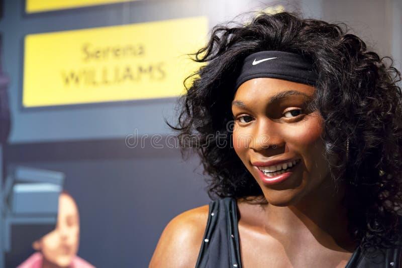 Serena Williams w Madame Tussauds Nowy Jork zdjęcia stock