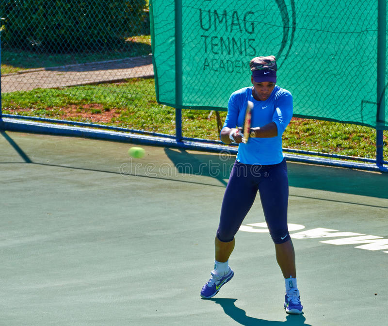 Serena Williams W Umag, Chorwacja obrazy royalty free