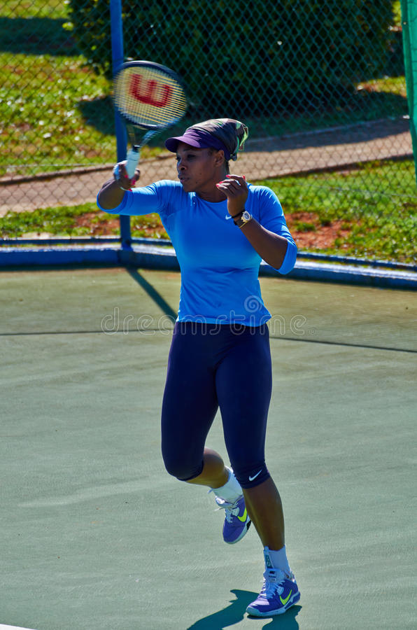 Serena Williams W Umag, Chorwacja fotografia royalty free