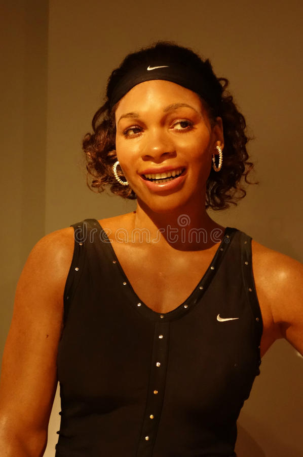 Serena Williams Wax Figure stockbilder