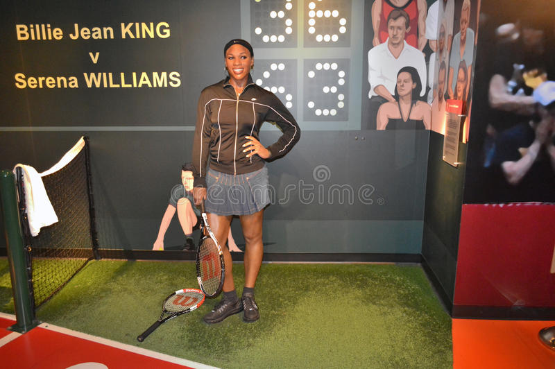 Serena Williams wax statue. At Madame Tussauds San Francisco. Serena Jameka Williams (born September 26, 1981)[1] is an American professional tennis player who royalty free stock photography