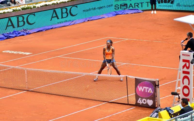 Serena Williams At The WTA Mutua Open Madrid Editorial Photography