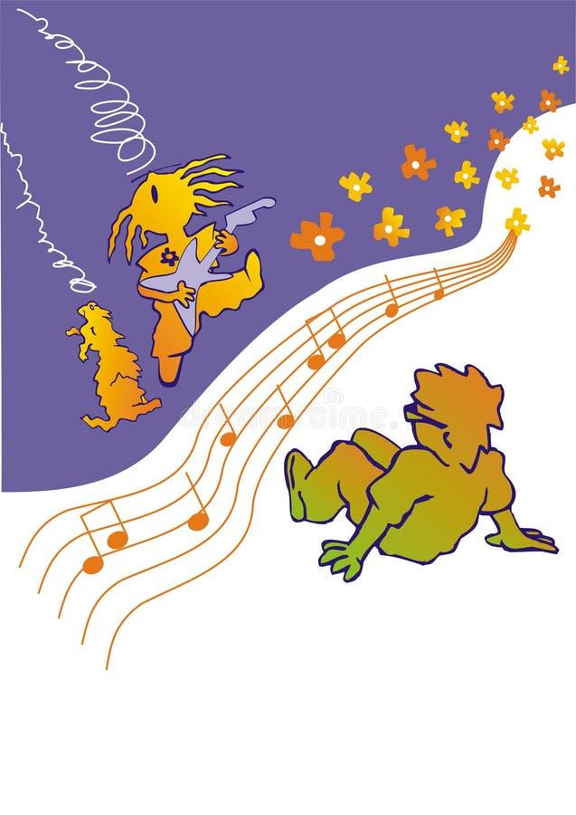 Serenade illustration stock