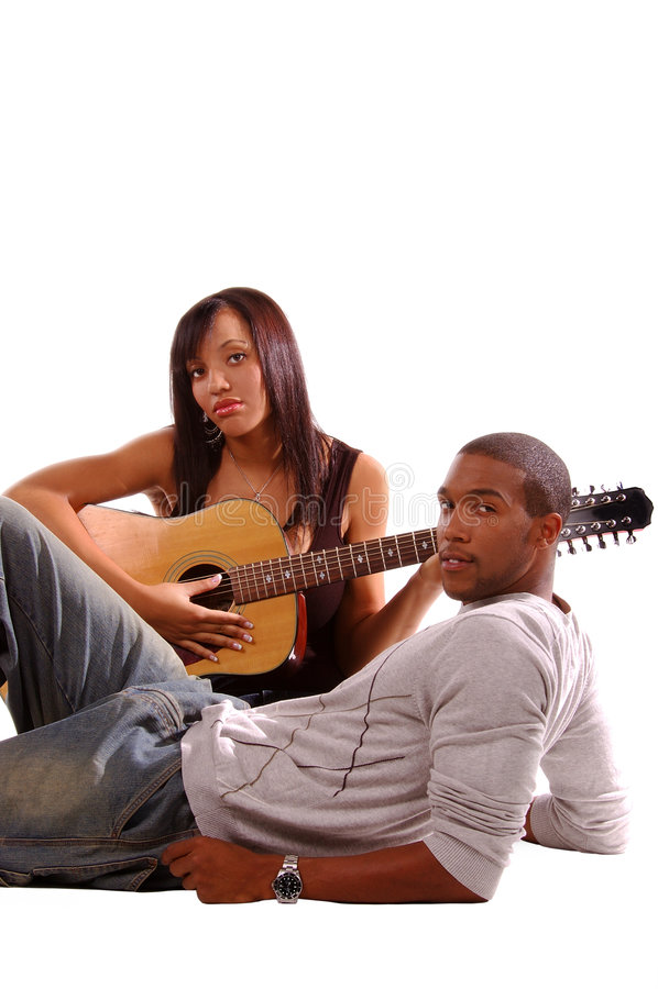 Serenade romantique de guitare images libres de droits