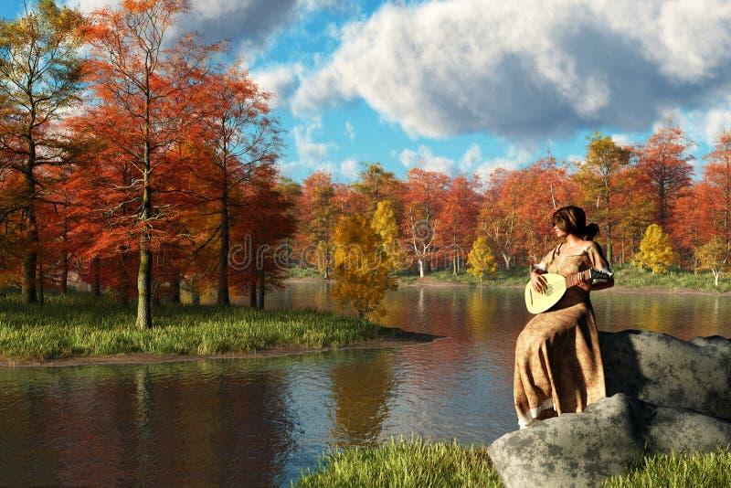 Serenading the Fall vector illustration