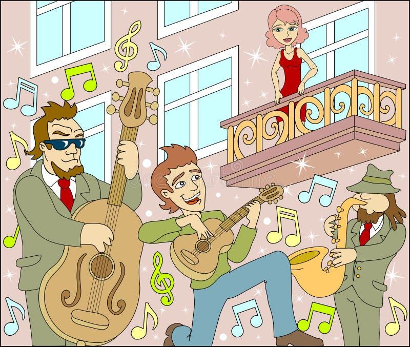Serenata ilustração royalty free