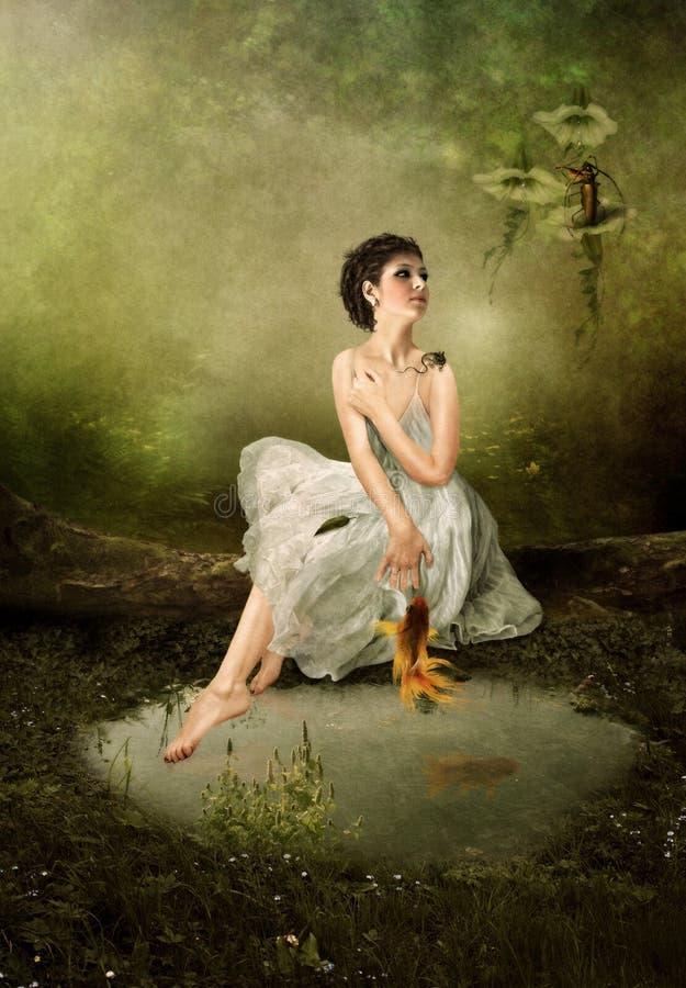 Serenata da floresta ilustração do vetor