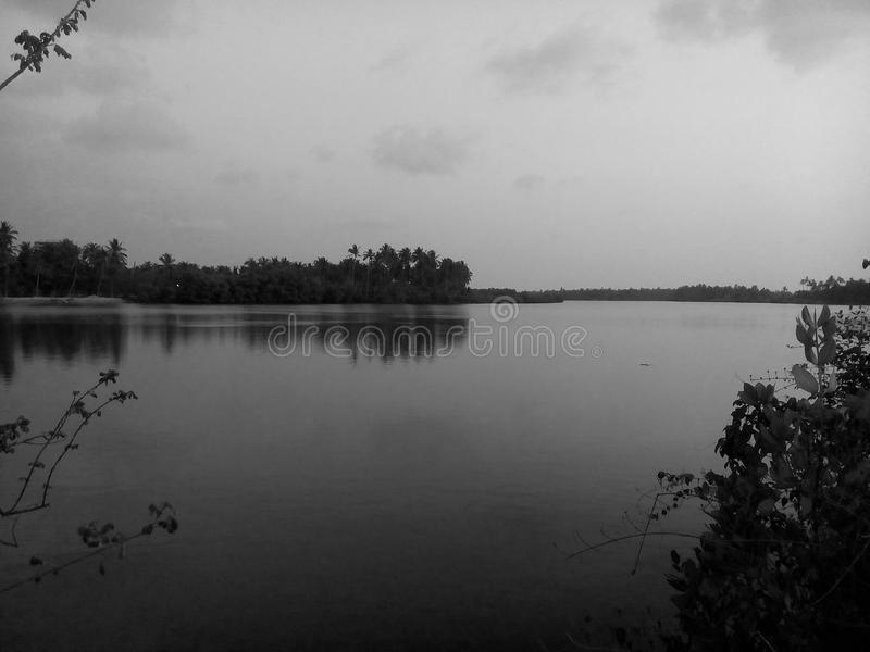 Serene backwaters royalty free stock image