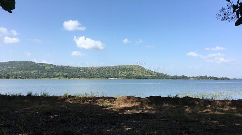 Serene Backwaters of Khadakwasla Dam near Pune India royalty free stock photo