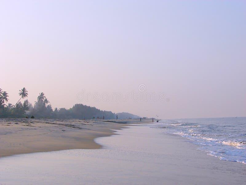 Serene Beach in Ochtend - Alappuzha, Kerala, India royalty-vrije stock afbeelding