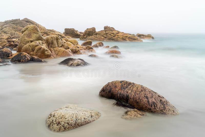 Serene Beach, Porth Nanven, West Cornwall royalty free stock photography