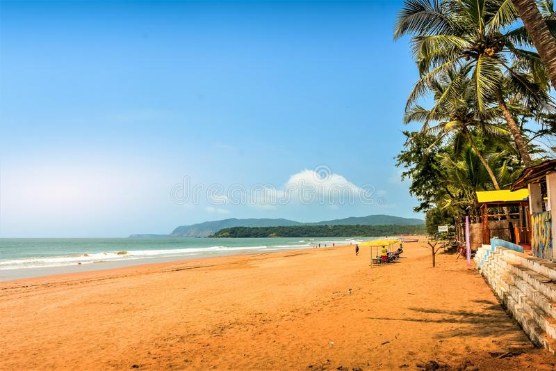 Serene beach of South Goa, Agonda. stock image
