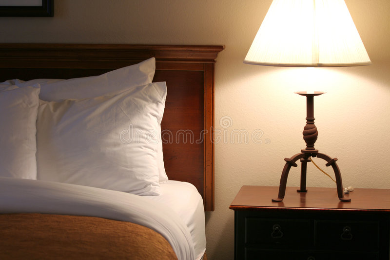 Serene bedside at night time royalty free stock photos