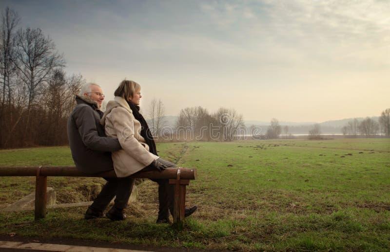Serene couple royalty free stock photo