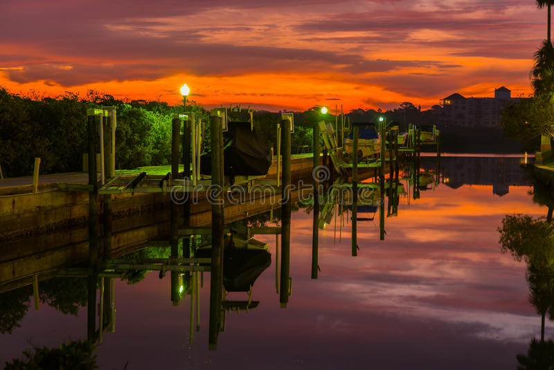 Serene Dock 2 stock fotografie
