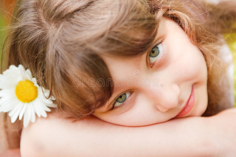 Download Serene girl stock image. Image of lovely, green, cheerful - 15810337