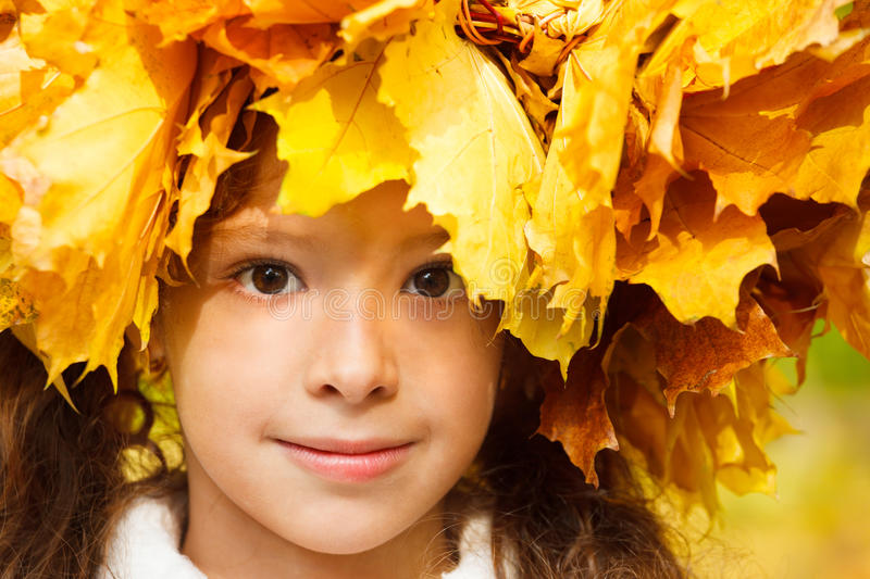 Download Serene Girl With An Autumn Headwreath Stock Photo - Image: 26412200