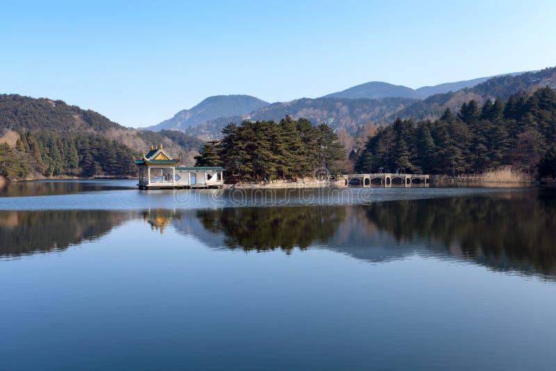 Download Serene lake stock photo. Image of quiet, pavilion, area - 22529706